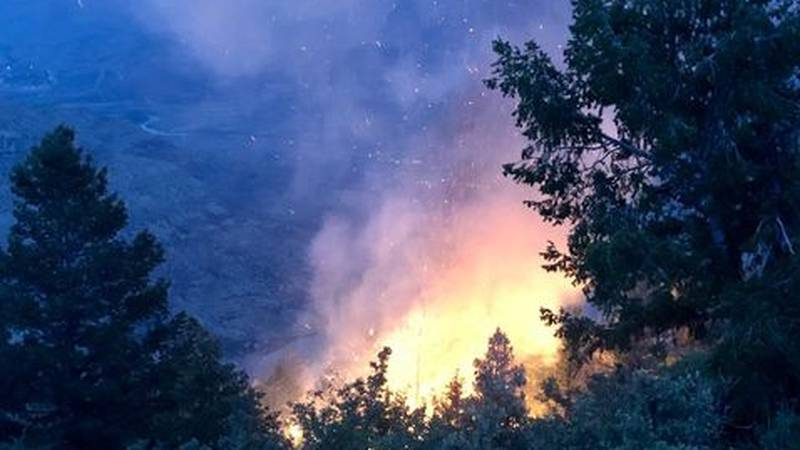 The Bureau of Land Management posted this photo on the agency's BLM Colorado Fire Facebook page.
