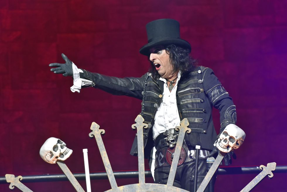 Alice Cooper performs at the Hollywood Casino Amphitheatre on Sunday, July 21, 2019, in Chicago.