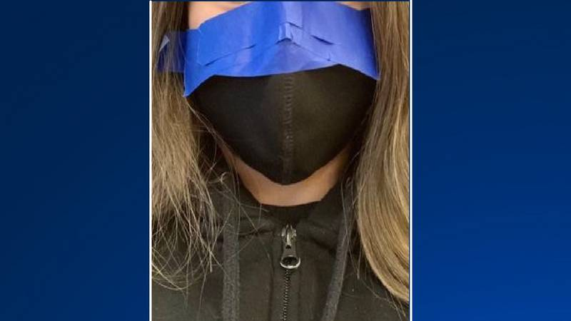 This photo started circulating on social media with claims teachers were taping masks to...
